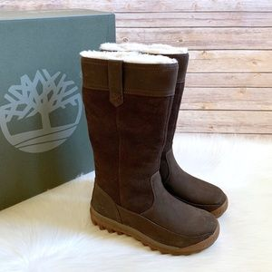 Timberland Brown MT Hayes Waterproof Pull On Boots